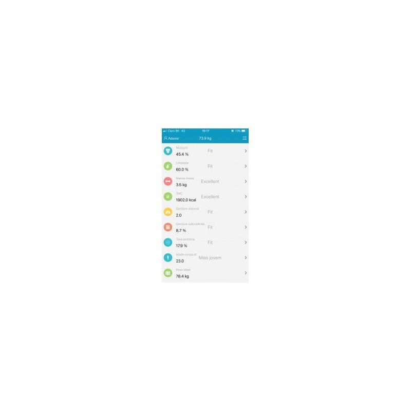 Balança digital inteligente de análise corporal Balmak MyFit