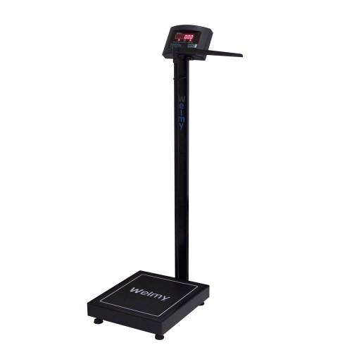 Balança eletrônica antropométrica Welmy W-200A Preta